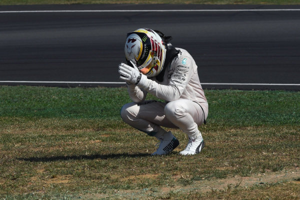 Race retiree Lewis Hamilton (GBR) Mercedes AMG F1 at Formula One World Championship, Rd16, Malaysian Grand Prix, Race,  Sepang, Malaysia, Sunday 2 October 2016.