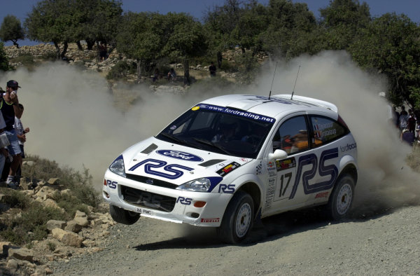 2001 World Rally ChampionshipCyprus Rally June 1-3, 2001Francois Delecour on Stage 5Photo: Ralph Hardwick/LAT