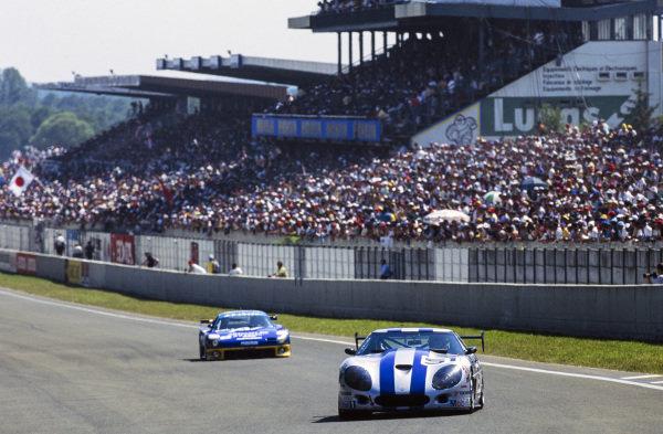 Frank Jelinski / Boris Said III / Michel Maisonneuve, Callaway Sport Inc, Callaway Corvette, leads Yojiro Terada / Franck Fréon / Pierre de Thoisy, Team Artnature, Mazda RX 7 GTO.