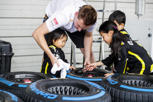 Young Fans with Pirelli tyres