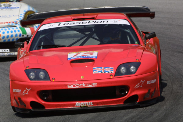 2001 FIA GT ChampionshipA1-Ring, Austria. 26th August 2001.The race winning, Ferrari 550 Maranello, of Rickard Rydell and Peter Kox. Action.World Copyright: Peter Fox/LAT Photographicref: Digital Image Only
