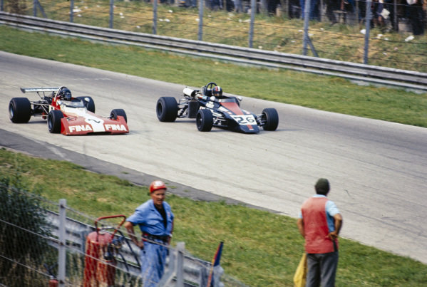 Andrea de Adamich, Surtees TS10 Ford/Hart, battles with David Purley, March 722 Ford.