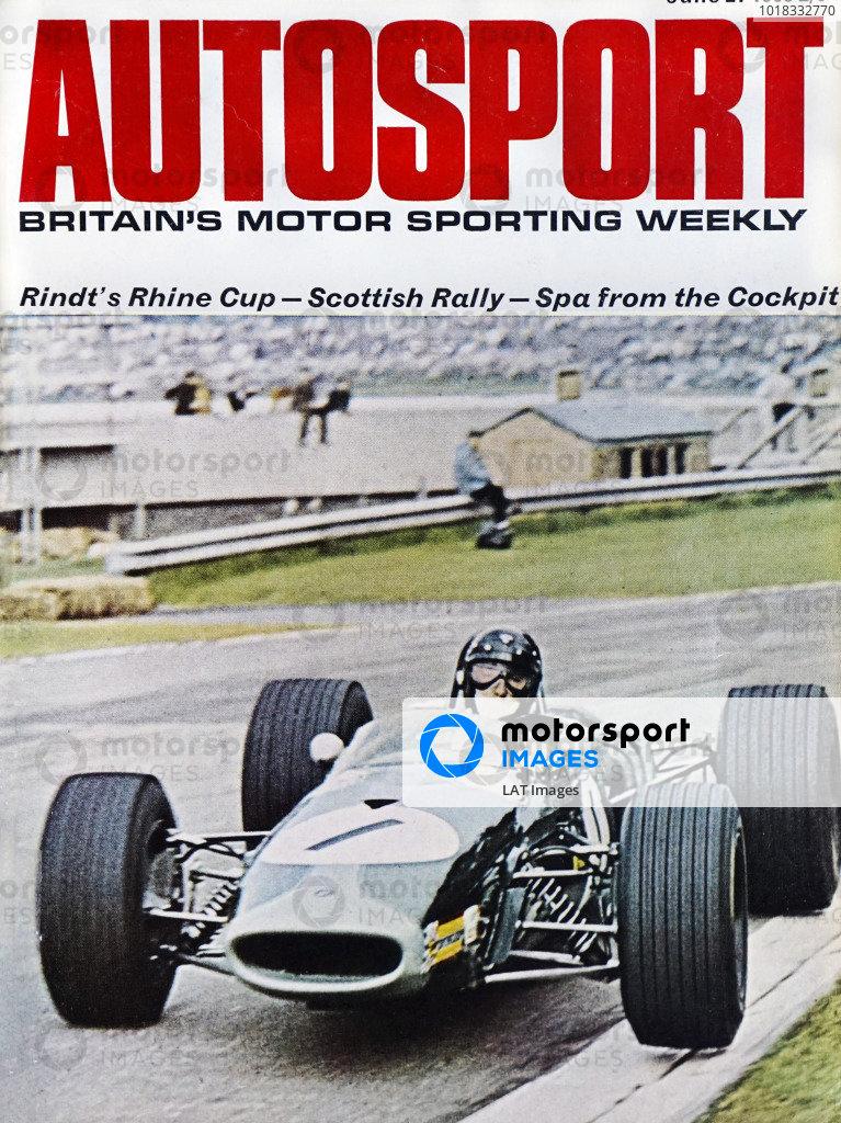 Cover of Autosport magazine, 21st June 1968