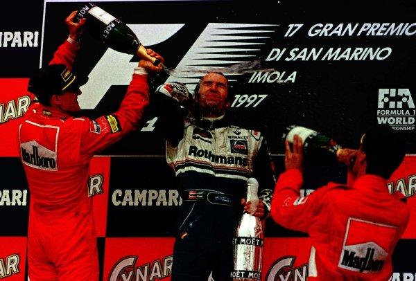 1997 San Marino Grand Prix.Imola, Italy.25-27 April 1997.Heinz Harald Frentzen (Williams Renault) 1st position.World Copyright - LAT Photographic