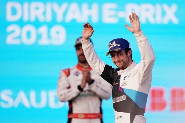 Alexander Sims (GBR) BMW I Andretti Motorsports, BMW iFE.20 celebrates on the podium
