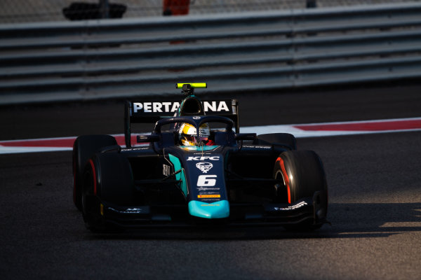 YAS MARINA CIRCUIT, UNITED ARAB EMIRATES - DECEMBER 05: Sean Gelael (IND, DAMS) during the Abu Dhabi at Yas Marina Circuit on December 05, 2019 in Yas Marina Circuit, United Arab Emirates. (Photo by Joe Portlock / LAT Images / FIA F2 Championship)