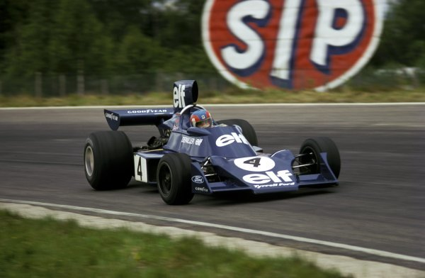 Patrick Depailler (FRA) Tyrrell 007/2 claimed his first pole position, then backed up his team mateÕs first victory with a debut podium second place finish.   Swedish Grand Prix, Scandinavian Raceway, Anderstorp, 9 June 1974. BEST IMAGE