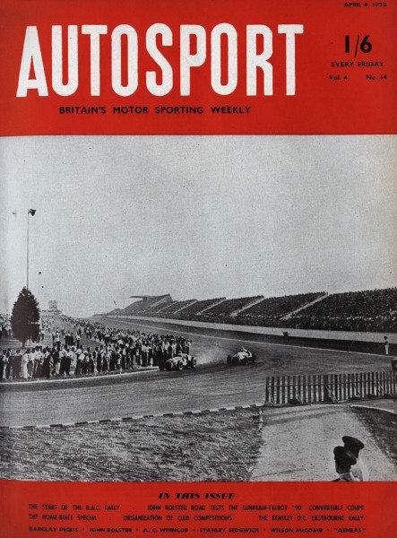 Cover of Autosport magazine, 4th April 1952