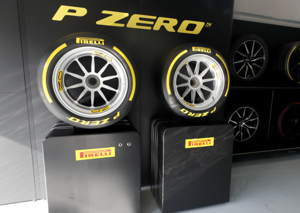 AUTODROMO NAZIONALE MONZA, ITALY - SEPTEMBER 07: New 18 inch Pirelli tyers for 2010 during the Monza at Autodromo Nazionale Monza on September 07, 2019 in Autodromo Nazionale Monza, Italy. (Photo by Steven Tee / LAT Images / FIA F2 Championship)