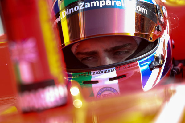 2013 GP3 Series. Round 1.  Circuit de Catalunya, Barcelona, Spain.  12th May Sunday Race 02 Dino Zamparelli (  Portrait  World Copyright: Malcolm Griffiths/GP3 Media Service.  Ref: Digital ImageC76D5652.JPG