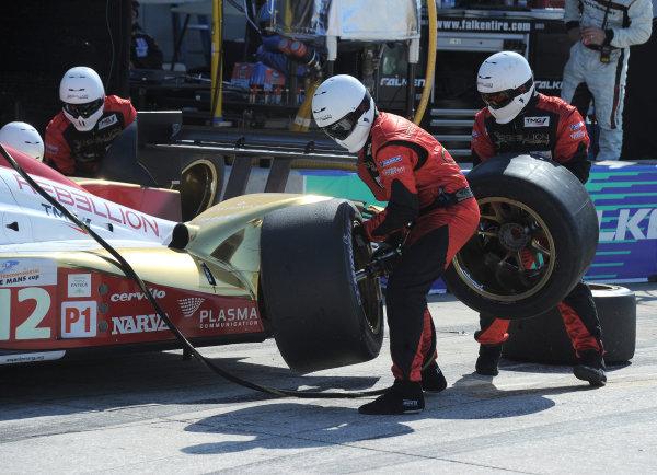 14-19 March 2011. Sebring, Florida USA#12 Rebellion Racing LolaB10/60 coupe during pitstop.©2011 Dan R. Boyd LAT Photo USA
