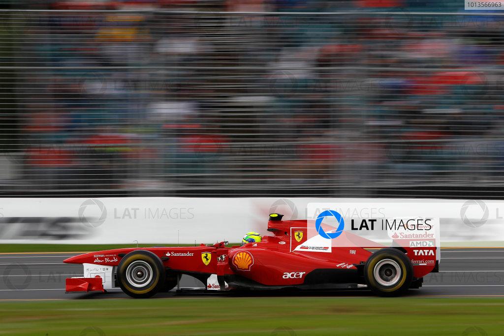 Albert Park, Melbourne, Australia 25th March 2011. Felipe Massa, Ferrari 150° Italia. Action.  World Copyright: Andrew Ferraro/LAT Photographic ref: Digital Image _Q0C8547
