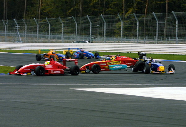 Norbert Siedler (AUT), Swiss Racing Team, and Bernard Auinger  (AUT), Opel Team BSR, collided in the new sharp hairpin.