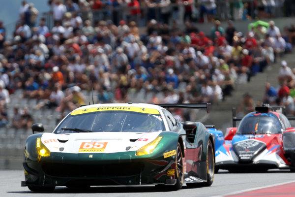 2017  European Le Mans Series, Red Bull Ring, 21st-23rd July 2017, #55 Duncan Cameron (GBR) / Matt Griffin (IRL) / Aaron Scott (GBR) - SPIRIT OF RACE - Ferrari F488 GTE World Copyright. JEP/LAT Images
