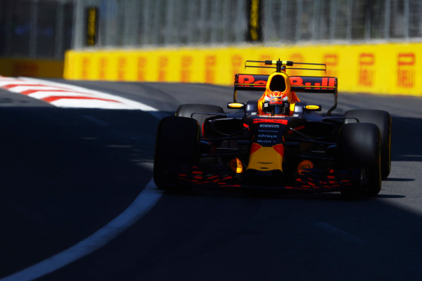 Baku City Circuit, Baku, Azerbaijan. Saturday 24 June 2017. Max Verstappen, Red Bull Racing RB13 TAG Heuer.  World Copyright: Steven Tee/LAT Images ref: Digital Image _O3I1856