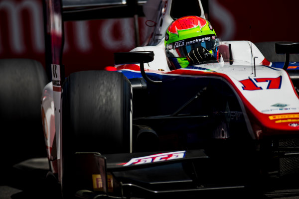 2017 FIA Formula 2 Round 4. Baku City Circuit, Baku, Azerbaijan. Friday 23 June 2017. Sergio Canamasas (ESP, Trident)  Photo: Zak Mauger/FIA Formula 2. ref: Digital Image _54I9981