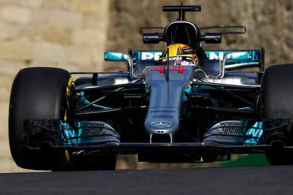 Baku City Circuit, Baku, Azerbaijan. Friday 23 June 2017. Lewis Hamilton, Mercedes F1 W08 EQ Power+.  World Copyright: Steven Tee/LAT Images ref: Digital Image _O3I1099