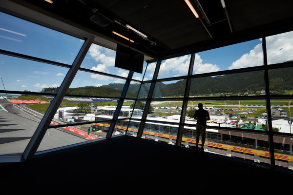 Red Bull Ring, Spielberg, Austria. Thursday 6 July 2017. A spectator views the circuit from the media centre.  World Copyright: Steve Etherington/LAT Images ref: Digital Image SNE12092