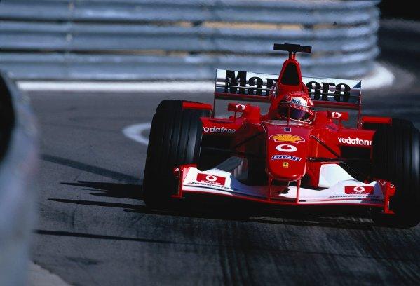2002 Monaco Grand Prix.Monte Carlo, Monaco. 23-26 May 2002.Michael Schumacher (Ferrari F2002) 2nd position.Ref-02 MON 24.World Copyright - LAT Photographic