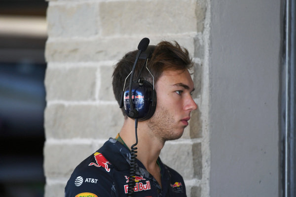Pierre Gasly (FRA) Red Bull Racing Test Driver at Formula One World Championship, Rd18, United States Grand Prix, Practice, Circuit of the Americas, Austin, Texas, USA, Friday 21 October 2016.