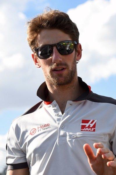 Romain Grosjean (FRA) Haas F1 walks the track at Formula One World Championship, Rd1, Australian Grand Prix, Preparations, Albert Park, Melbourne, Australia, Wednesday 16 March 2016.