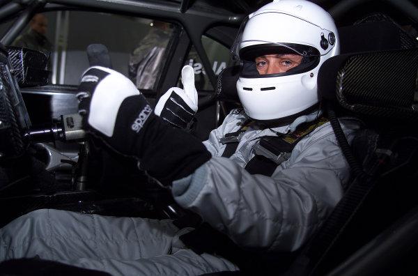 2001 DTM Testing Hockenheim, Germany. 7th November 2001. Jean Alesi testing the AMG Mercedes CLK-DTM at Hockenheim. World Copyright: Wolfgang Wilhelm/LAT Photographic ref: Digital Image Only