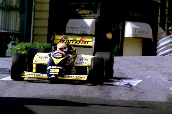 Monte Carlo, Monaco. 16th - 19th May 1985.Pierluigi Martini (Minardi M185 Motori Moderni). He failed to qualify. Action.World Copyright: LAT Photographic