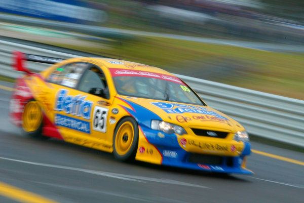 2003 Australian V8 Supercars, Round 9, Sandown, 14th September 2003.FORD Falcon BA drivers Paul Radisich and Riickard Rydell in action during the Betta Electrical 500 held at Melbournes Sandown International Raceway today.Photo: Mark Horsburgh/LAT Photographic