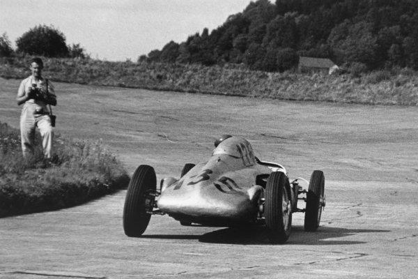1952 German Grand Prix.Nurburgring, Germany. 3 August 1952.Ernst Klodwig (BMW Eigenbau). Ref-4679J/23A.World Copyright - LAT Photographic