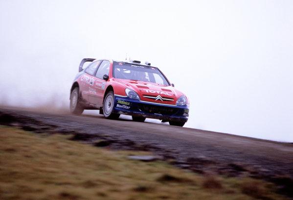 2003 World Rally ChampionshipRally of Great Britain, Wales. 6th - 9th November 2003.Colin McRae / Derek Ringer, Citroen Xsara. ActionWorld Copyright: McKlein/LATref: 35mm Image WRC_GB_06 jpg