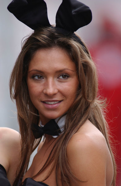 2004 DTM Championship Lausitzring. Germany. 4th - 6th june 2004. One of the DTM Playboy girls. Portrait.World Copyright: Andre Irlmeier/LAT Photographic ref: Digital Image Only