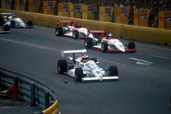 Jean Alesi (FRA) Team Oreca Dallara. Macau Grand Prix, Hong Kong, 29 November 1987.