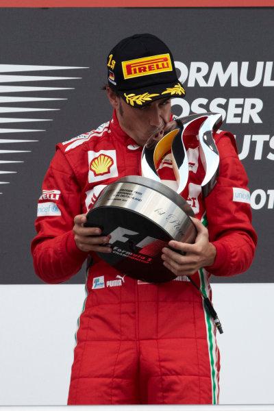 Hockenheimring, Hockenheim, Germany 22nd July 2012 Fernando Alonso, Ferrari, 1st position on the podium. World Copyright: Steve Etherington/LAT Photographic ref: Digital Image HC5C5903 copy