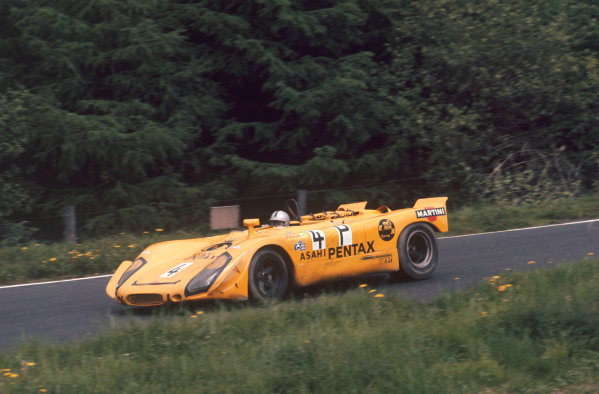 Nurburgring, Germany. 31st May 1970. Rd 7.Sepp Greger/Helmut Leuze (Porsche 908/02), 8th position, action. World Copyright: LAT Photographic.Ref:  70Ring 07.