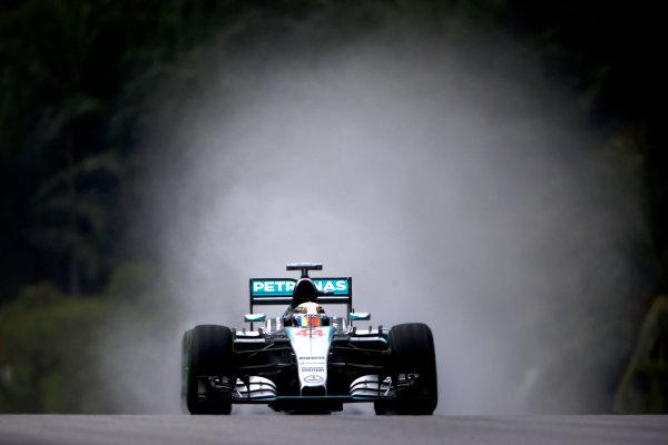 Sepang International Circuit, Sepang, Kuala Lumpur, Malaysia. Saturday 28 March 2015. Lewis Hamilton, Mercedes F1 W06 Hybrid. World Copyright: Andrew Hone/LAT Photographic. ref: Digital Image _ONY0352