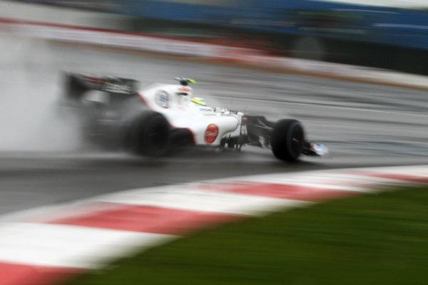 Sergio Perez (MEX) Sauber C31. Formula One World Championship, Rd9, British Grand Prix, Qualifying, Silverstone, England, Friday 6 July 2012. BEST IMAGE