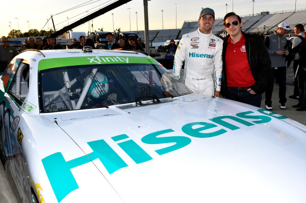 24 April, 2015, Richmond, Virginia USA Denny Hamlin, Hisense Toyota Camry and guests ? 2015, Nigel Kinrade LAT Photo USA