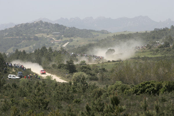 2005 World Rally Championship Rallye d'Italia, Sardinia, Italy. 29th April - 1st May 2005Scenic Peugeot 307 WRC, action.World Copyright: McKlein/LAT Photographic ref: Digital Image Only