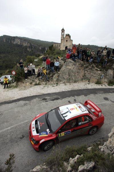 2005 FIA World Rally Champs. Round fifteenRally RACC Catalunya - Costa Durada.27th-30th  October 2005.Harri Rovanpera, Mitsubishi, action.World Copyright: McKlein/LAT