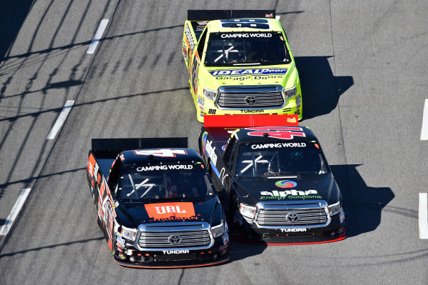 1-2 April, 2016, Martinsville, Virginia USA Christopher Bell (4), Ben Rhodes (41), Matt Crafton (88) ?2016, John Harrelson / LAT Photo USA
