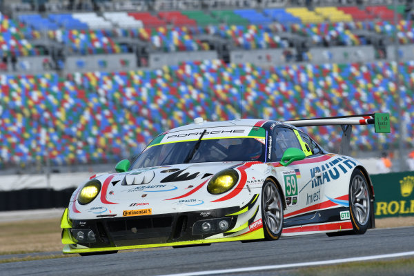 IMSA WeatherTech SportsCar Championship Rolex 24 Hours Daytona Beach, Florida, USA Friday 26 January 2018 #59 Manthey Racing Porsche 911 GT3 R, GTD: Steve Smith, Harald Proczyk, Sven Muller, Matteo Cairoli, Randy Walls World Copyright: Richard Dole LAT Images  ref: Digital Image 5RD_6911