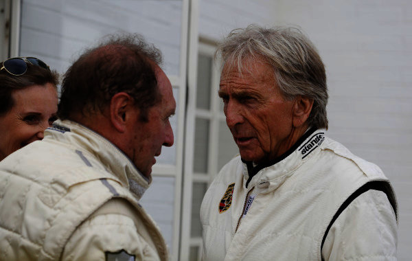 2014 Goodwood Revival Meeting  Goodwood Estate, West Sussex, England. 12th - 14th September 2014.  Derek Bell and Jochen Mass.  Ref: _W5_4234a. World copyright: Kevin Wood/LAT Photographic