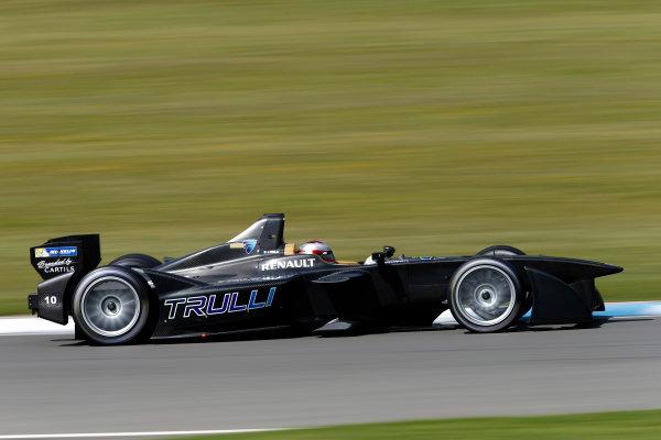 FIA Formula E Test Day, Donington Park, UK.  9th - 10th July 2014.  Jarno Trulli, Trulli GP. Photo: Glenn Dunbar/FIA Formula E ref: Digital Image _89P3607