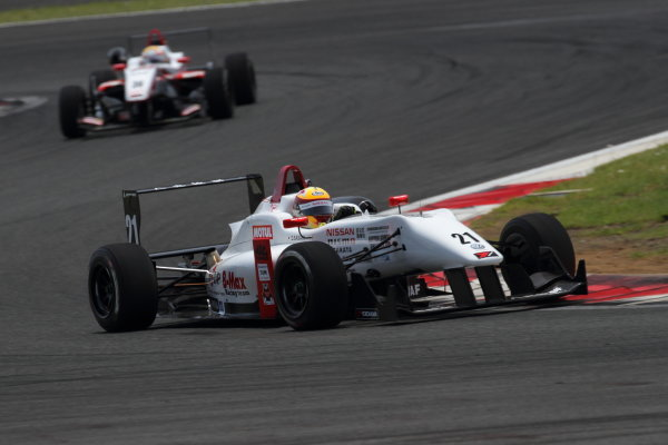 2016 Japanese Formula 3 Championship Fuji, Japan. 14th-15th May 2016. Rd 3 & 4. Race winner Daiki Sasaki  ( #21 B-MAX NDDP F3 ).  World Copyright: Hideaki Kobayashi/LAT Ref: (filenamebase}