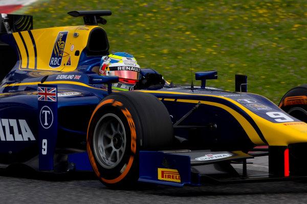 Circuit de Barcelona Catalunya, Barcelona, Spain. Monday 13 March 2017. Oliver Rowland (GBR, DAMS). Action.  Photo: Alastair Staley/FIA Formula 2 ref: Digital Image 585A6959
