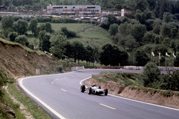 Charade, Clermont-Ferrand, France.25-27 June 1965.Jo Siffert (Brabham BT11-BRM) 5th position.Ref-65 FRA 04.World Copyright - LAT Photographic