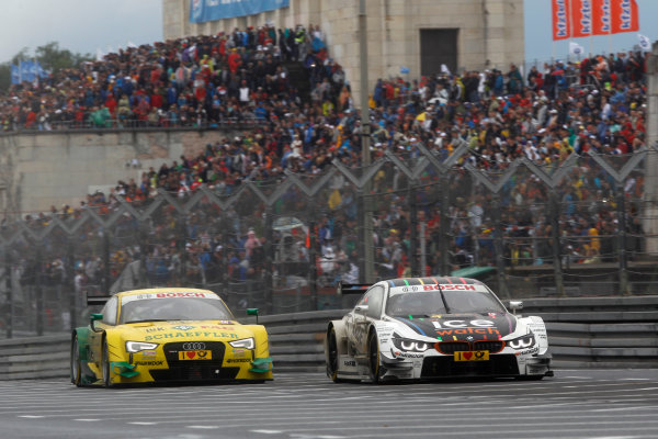 2014 DTM Championship Round 4 - Norisring, Germany 27th - 29th June 2014  Marco Wittmann (GER) BMW Team RMG BMW M4 DTM and Mike Rockenfeller (GER) Audi Sport Team Phoenix Audi RS 5 DTM World Copyright: XPB Images / LAT Photographic  ref: Digital Image 3190612_HiRes