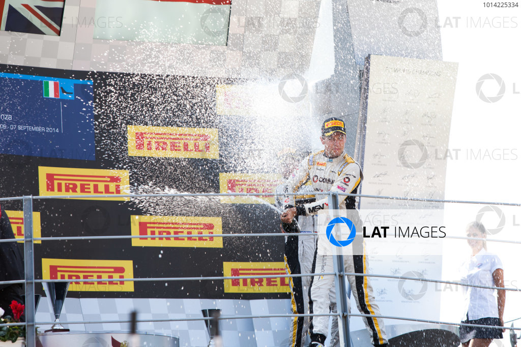 2014 GP2 Series. Round 9.   Autodromo di Monza, Monza, Italy. Sunday 7 September 2014. Jolyon Palmer (GBR, DAMS). Photo: Zak Mauger/GP2 Series Media Service. ref: Digital Image IMG_9618