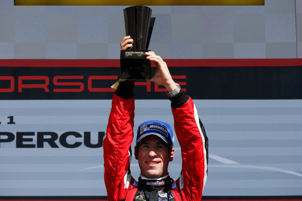 2014 Porsche Supercup. Sunday 2 November 2014. Michael Ammermuller, No.4 Lechner Racing Team, 1st Position. World Copyright: /LAT Photographic. ref: Digital Image _W2Q7154