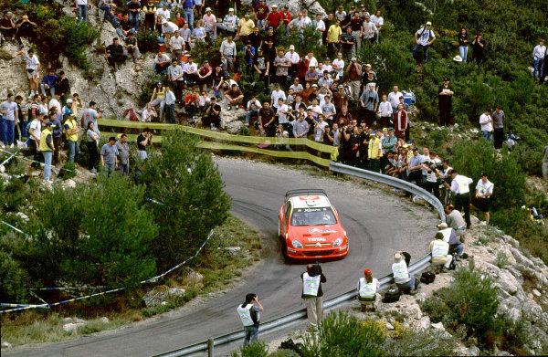 2001 World Rally Championship. Catalunya Rally, Spain. 22nd - 25th March 2001. Rd 4. P Bugalski / JP Chiaroni, Citroen Xsara T4, action. World Copyright: McKlein / LAT Photographic. Ref: A15